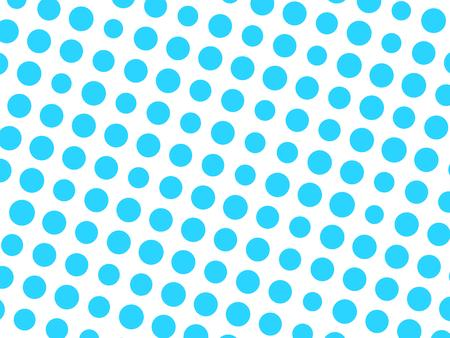 Abstract geometric pattern of blue circle dots in various sizes on white background. Modern stylish vector design element.