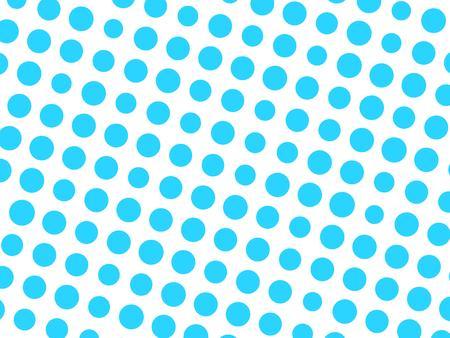 Abstract geometrisch patroon van blauwe cirkelpunten in diverse grootte op witte achtergrond. Modern modieus vectorontwerpelement.