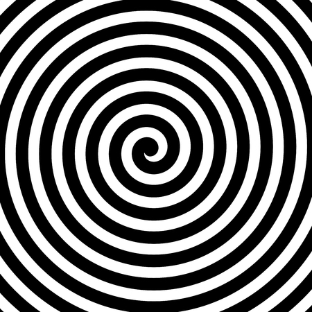 hypnotise: Vector spiral background in black and white. Hypnosis theme. Abstract design element.