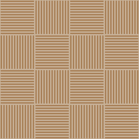 netting: Vector abstract geometric seamless pattern. Weaving textile fabric with brown and beige crossed straight lines.
