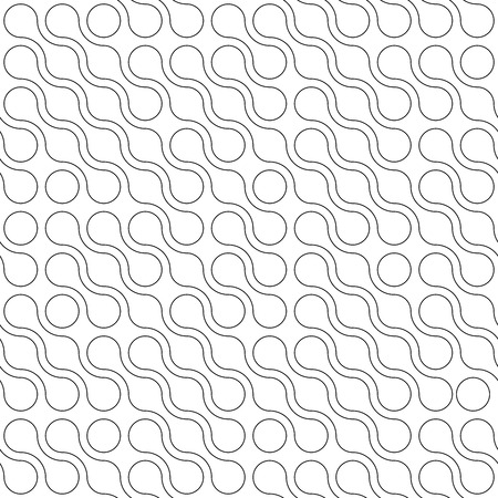 Abstract background of connected dots in diagonal arrangement on white background. Molecule theme wallpaper. Seamless pattern vector illustration. Illustration