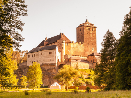 Kost - Medieval castle in Bohemian Paradise, Czech Republic, Europe.
