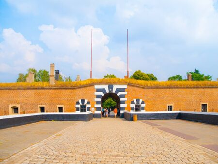 Entrance gate to Small Fortress of Terezin, Czech Republic