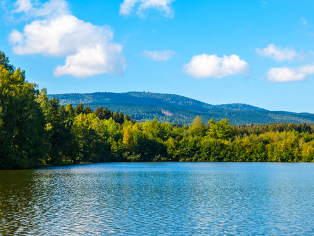 Babylon Pond and Cerchov Mountain in Bohemian Forest, Czech Republic.