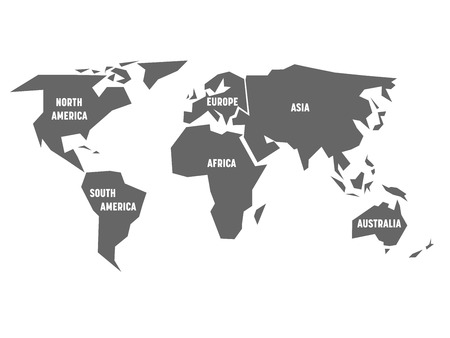 Pencil Scribble Sketch Map Of World Hand Doodle Drawing Vector - Six continents of the world