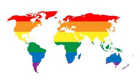 LGBT Flag Map Of Senegal. Vector Rainbow Map Of Senegal In ...