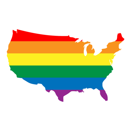 LGBT Flag Map Of Tennessee. Vector Rainbow Map Of Tennessee In ...