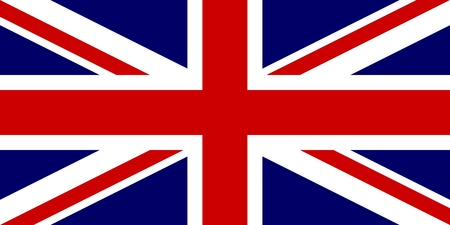 Official flag of United Kingdom of Great Britain and Northern Ireland. UK flag aka Union Jack. Vector illustration.