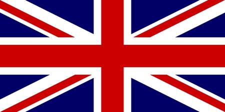 Officiële vlag van het Verenigd Koninkrijk van Groot-Brittannië en Noord-Ierland. Britse vlag aka Union Jack. Vector illustratie. Vector Illustratie