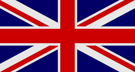 Flag of United Kingdom of Great Britain and Northern Ireland Ilustracja