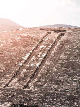 El Fuerte de Samaipata. Close-up view of mystical rock carvings in Pre-Columbian archaeological site, Bolivia, South America.