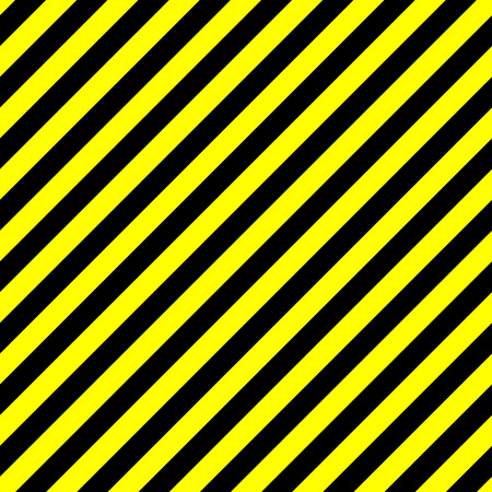 Seamless background pattern of yellow and black stripes. Danger, police or under construction theme. Vector illustration. Vettoriali