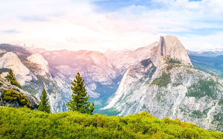 Yosemite National Park and Half Dome, California, USA Stock Photo