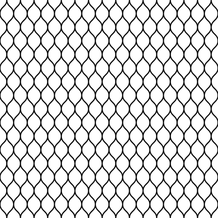 chained link fence: Seamless wired netting fence. Simple black vector illustration on white background.