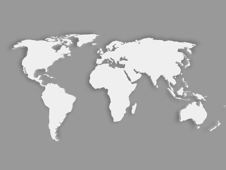 White 3d world map with dropped shadow on grey background eps10 vector white 3d world map with dropped shadow on grey background eps10 vector illustration gumiabroncs Image collections