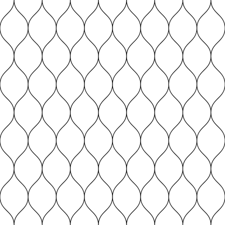 barbed wire fence: Seamless wired netting fence. Simple black vector illustration on white background.