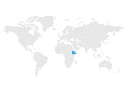 Ethiopia map location. Illustration