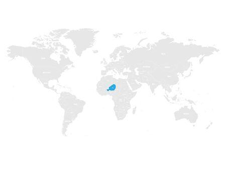 Nigeria map location. Stock Vector - 88965591