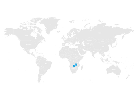 Zambia map location. Illustration