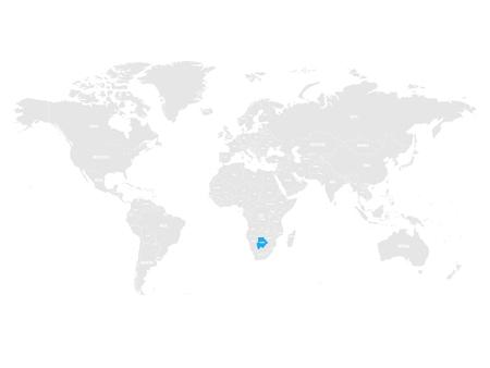 Botswana map location.