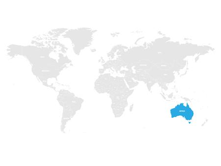 Australia map location.