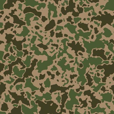 추상 얼룩의 모자이크와 함께 완벽 한 위장 패턴입니다. 군사 또는 군대 카 모 배경 녹색 또는 카키색 그늘. 일러스트