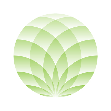 Green circle - symbol of yoga, wellness, beauty and spa. Illustration