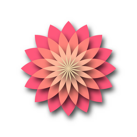 Pink lotus - symbol of yoga, wellness, beauty and spa. Vector illustration. Çizim