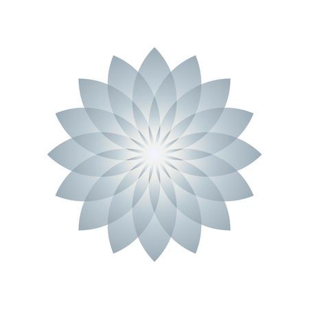 Lotus plant symbol. Vector illustration Vectores