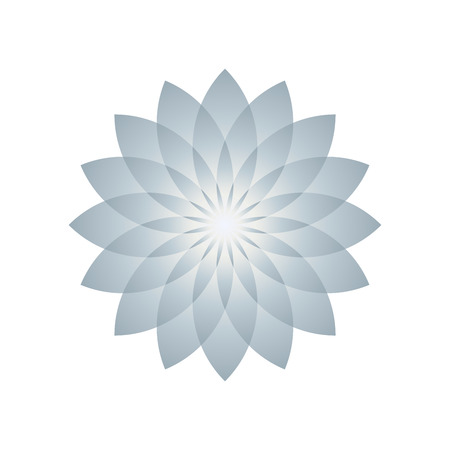 Lotus plant symbol. Vector illustration Illustration