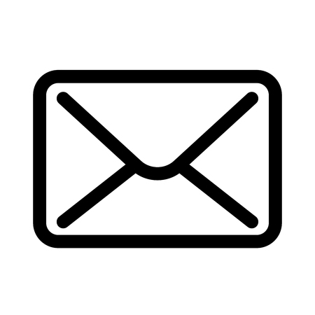 Mail envelope icon. Symbol of e-mail communication or post office. Outline modern design element.