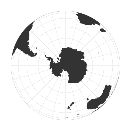 Vector Earth globe focused on Antarctica and South Pole. Illustration