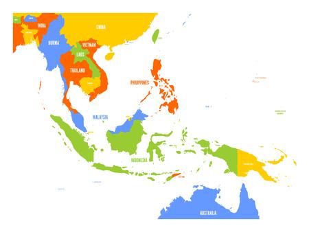 Vector kaart van Zuidoost-Azië.