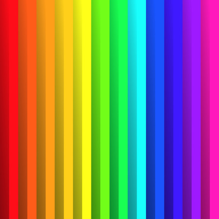 Folded paper in colors of rainbow spectrum. With shadow effect. Happy abstract vector background wallpaper.