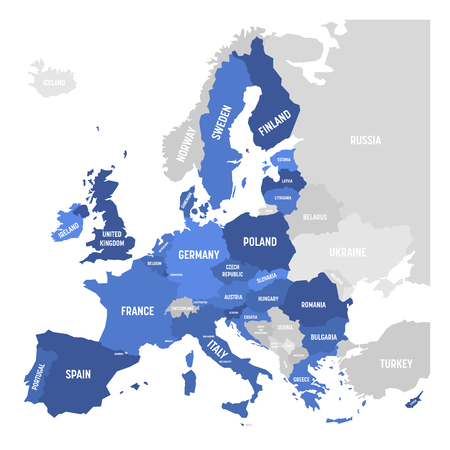 A Vector map of EU, European Union