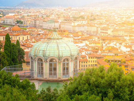 Rounded building of Coffee House in Boboli Gardens, Florence, Tuscany, Italy.