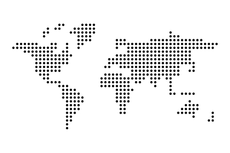 Dotted World map. Simple flat vector illustration.