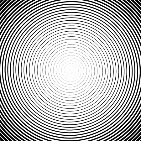 High density spiral. Halfotne effect. Vector black and white illustration.