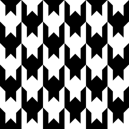 Houndstooth seamless pattern. Black and white vector abstract background.