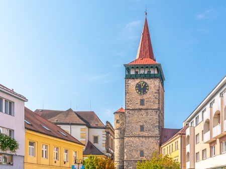 Detailed view of Valdice Gate, or Valdicka brana, in Jicin, Czech Republic. Stock Photo