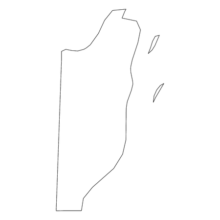 Belize - solid black outline border map of country area. Simple flat vector illustration.