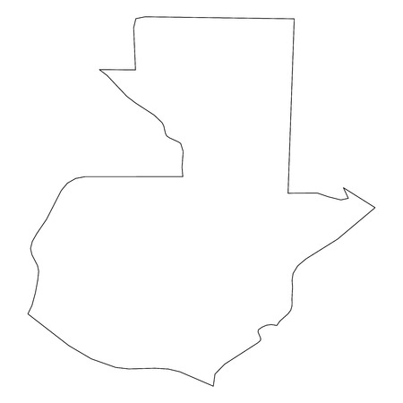Guatemala - solid black outline border map of country area. Simple flat vector illustration.