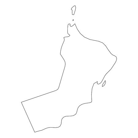 Oman - solid black outline border map of country area. Simple flat vector illustration. Vektorgrafik