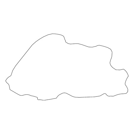 Bhutan - solid black outline border map of country area. Simple flat vector illustration. Illustration