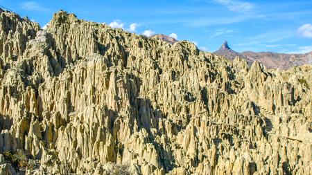 Sharp rock pillars in Moon Valley - Valle de la Luna, La Paz, Bolivia, South America