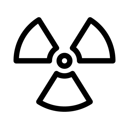 Radioactive material sign. Symbol of radiation alert, hazard or risk. Simple flat vector illustration in black and white. Imagens - 119579277