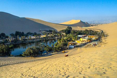 Huacachina - desert oasis near Ica in Peru, South America. Imagens