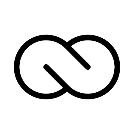 Infinity symbol icon. Concept of infinite, limitless and endless. Simple flat black outline vector design element.