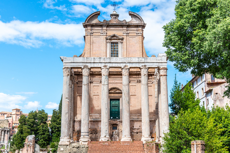 Temple of Antoninus and Faustina, Roman Forum, Rome, Italy Reklamní fotografie