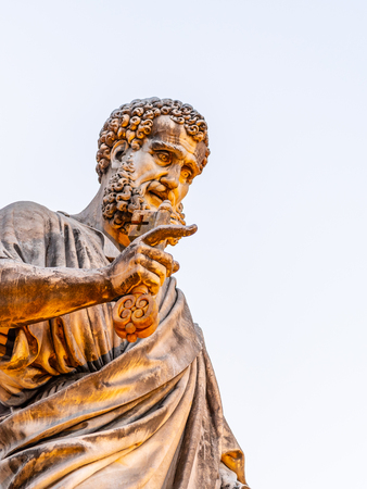 Statue of Saint Peter with key from Kingdom of Heaven. Vatican City.